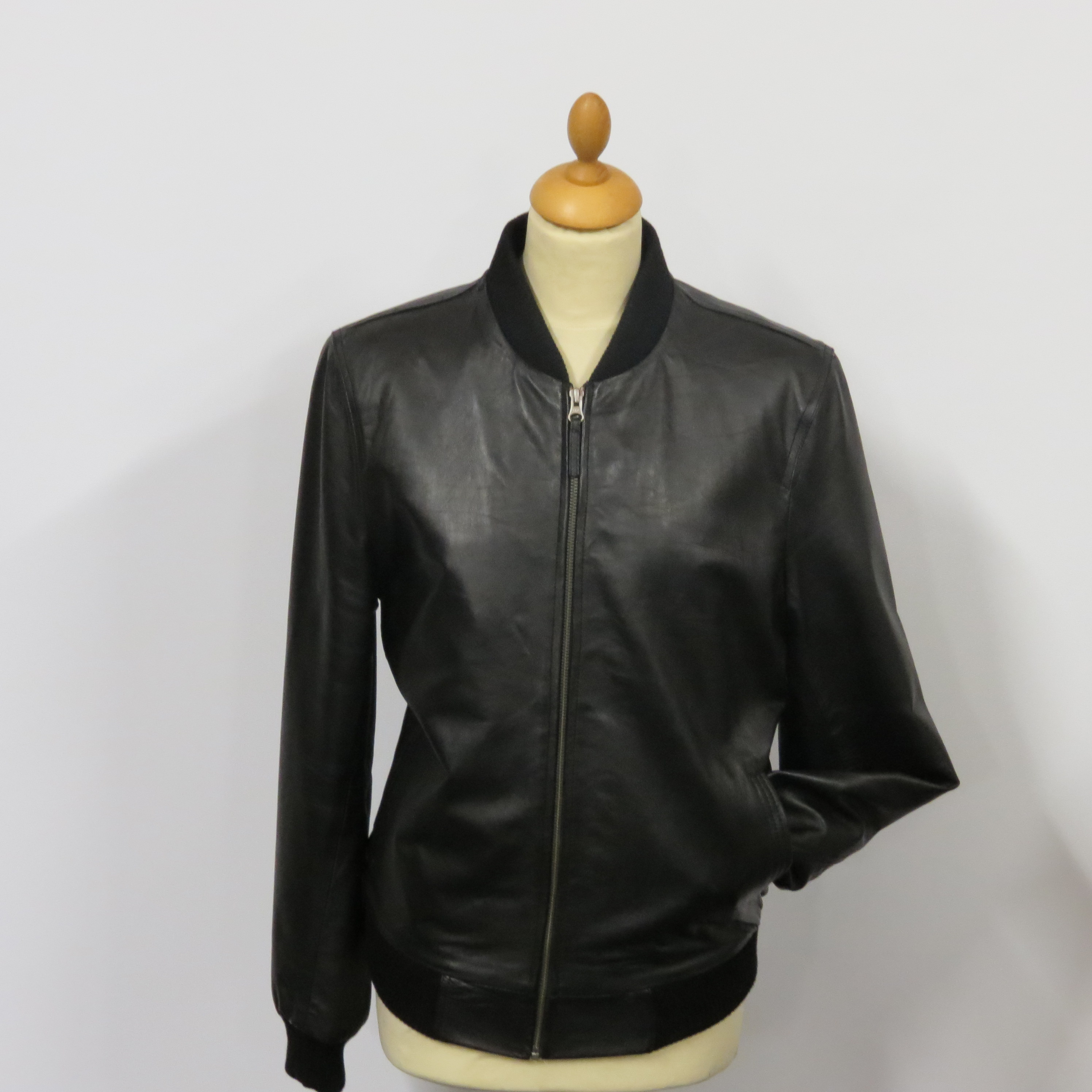 ladies 323 bomber jkt soft nappa leather