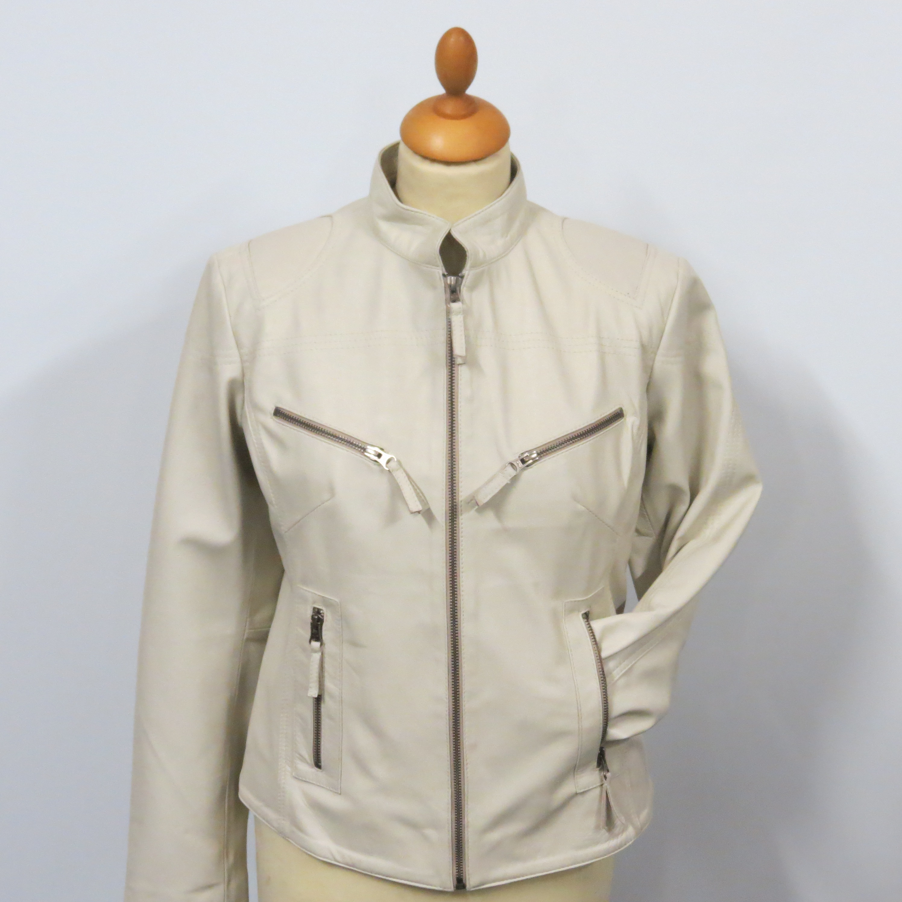 ladies128 ivory soft nappa leather