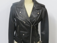 "Ladies classic biker leather ""124"" style in soft nappa leather"