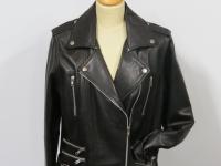 ladies bikers style 7113 soft black nappa leather
