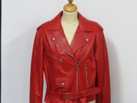 ladies 124 red soft nappa leather