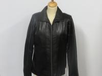Ladies open collar zip up jacket