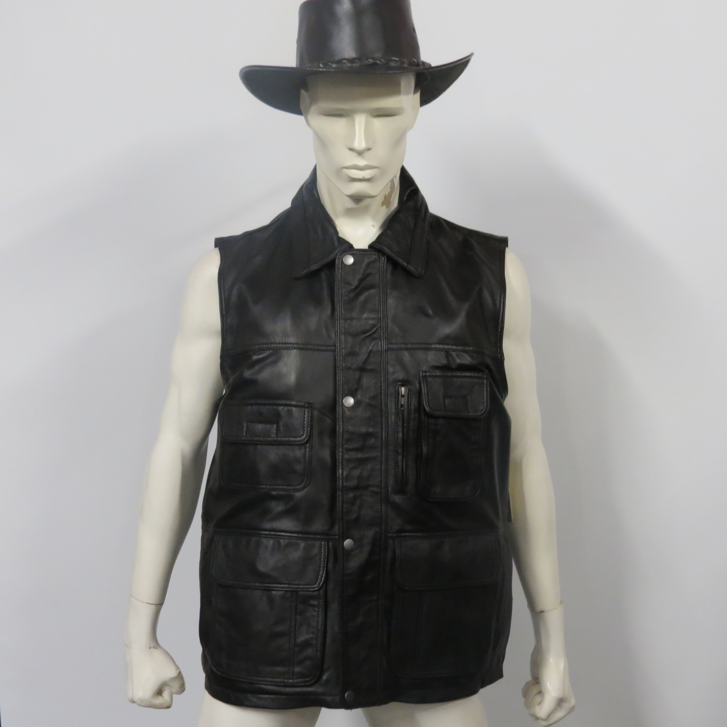 Mens long jerking waistcoat available in small to 4XL