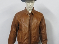Mens 601 A1 grade soft nappa leather. Black, tan (pictured) or brown in sizes small to 5XL.