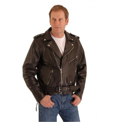 Classic biker style belted