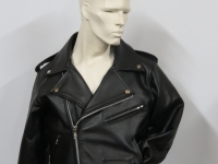 "Tradional style bikers jacket available in sizes 38"" to 54"" from £79.00"