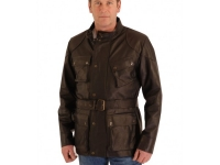 Mens 3/4 length classic stle bikers jacket wit patch pockets, sizes small to 5XL